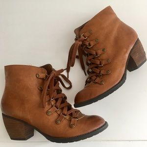BP Tan Leather Lace-Up Boots!